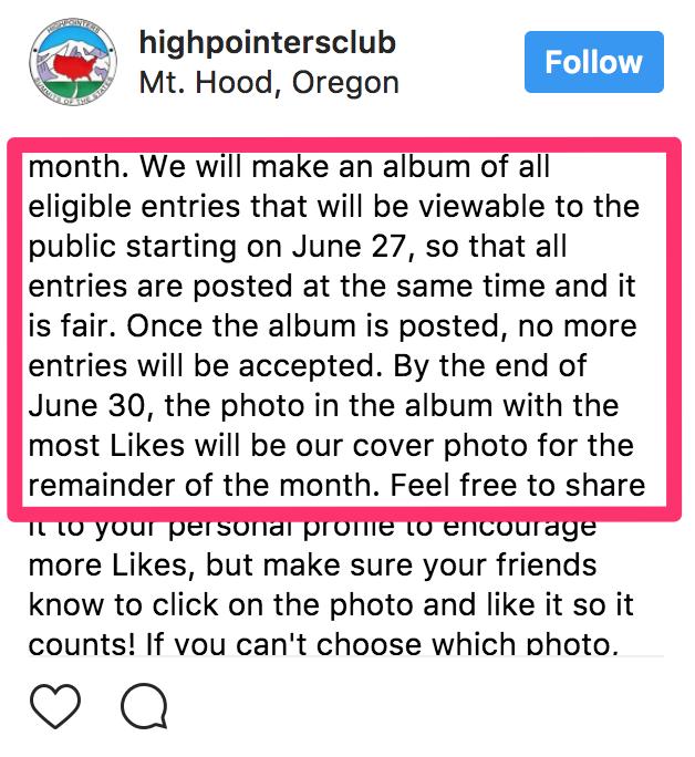 ideas de concurso de instagram - ejemplo de reglas de concurso de votación