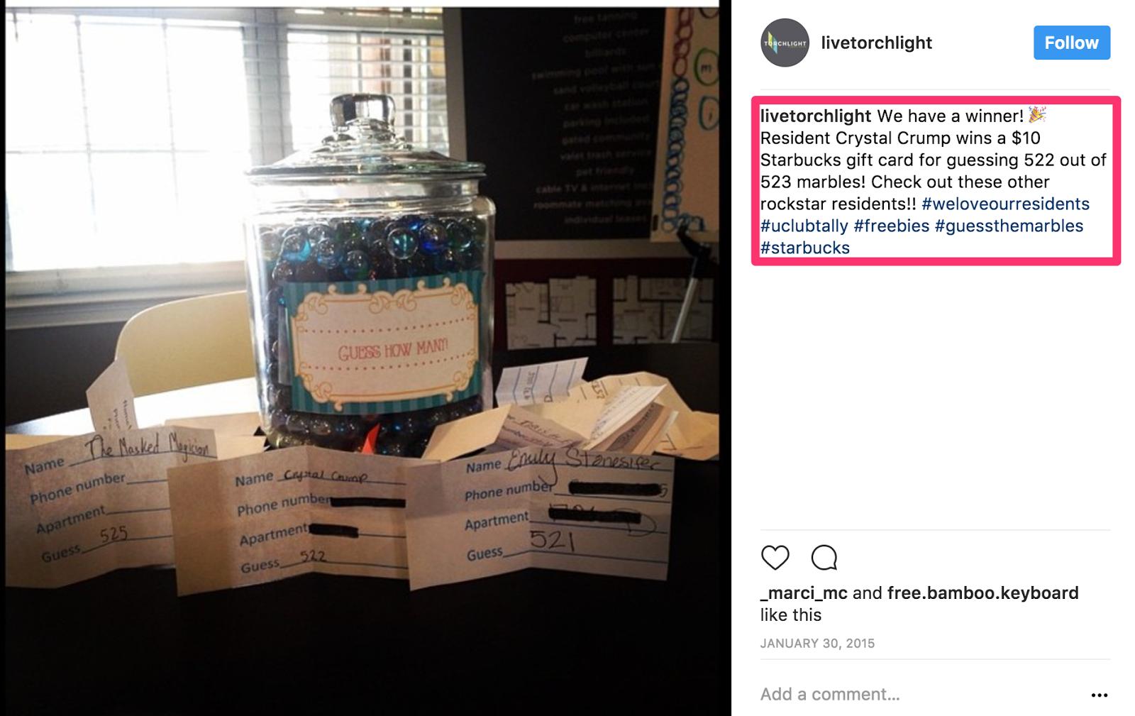ideas de concurso de instagram - ejemplo de fondo de desafío 2