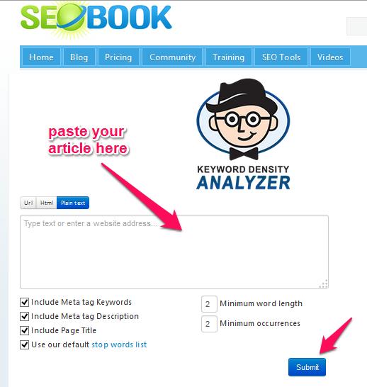 comprobar la densidad de palabras clave - redacción SEO