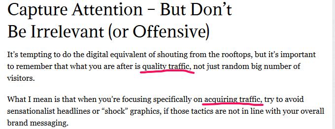 acqure traffic. -seo copywriting
