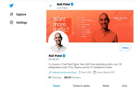 optimiza tu perfil para tu estrategia avanzada de Twitter