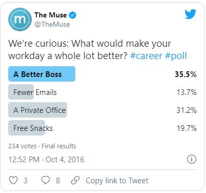estrategia avanzada de Twitter: pregunta de contenido en las encuestas