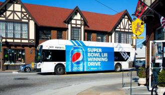 Ejemplos de publicidad exterior: Bus Pepsi