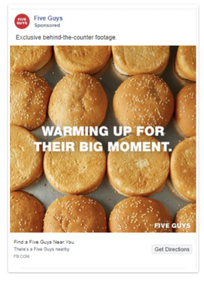 Ejemplos de publicidad de alimentos: sin lujos