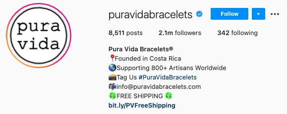 mejores biografías de instagram - pure vida