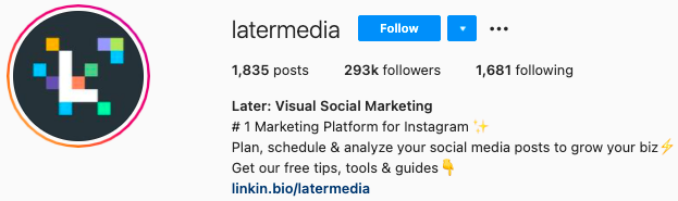 mejores biografías de instagram - última biografía de la página de instagram