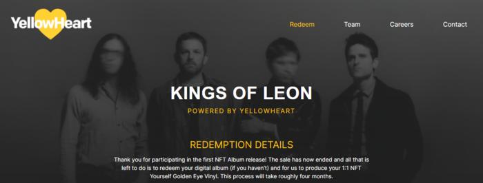 The Kings of Leon son el primer grupo en lanzar un álbum de NFT.