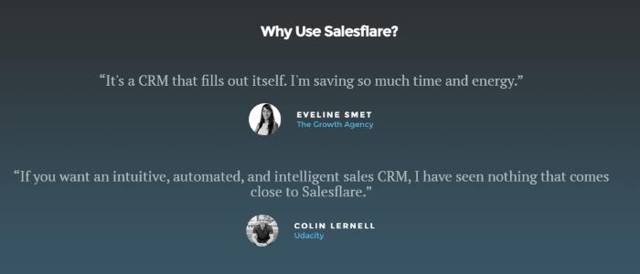 ejemplos de testimonios - Salesforce