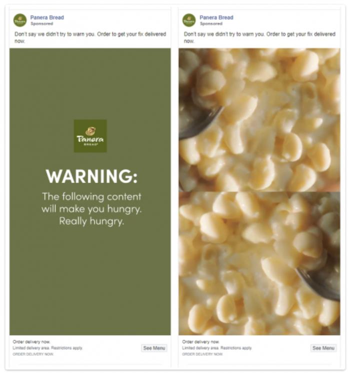 Ejemplos de buena publicidad gastronómica - Panera Bread