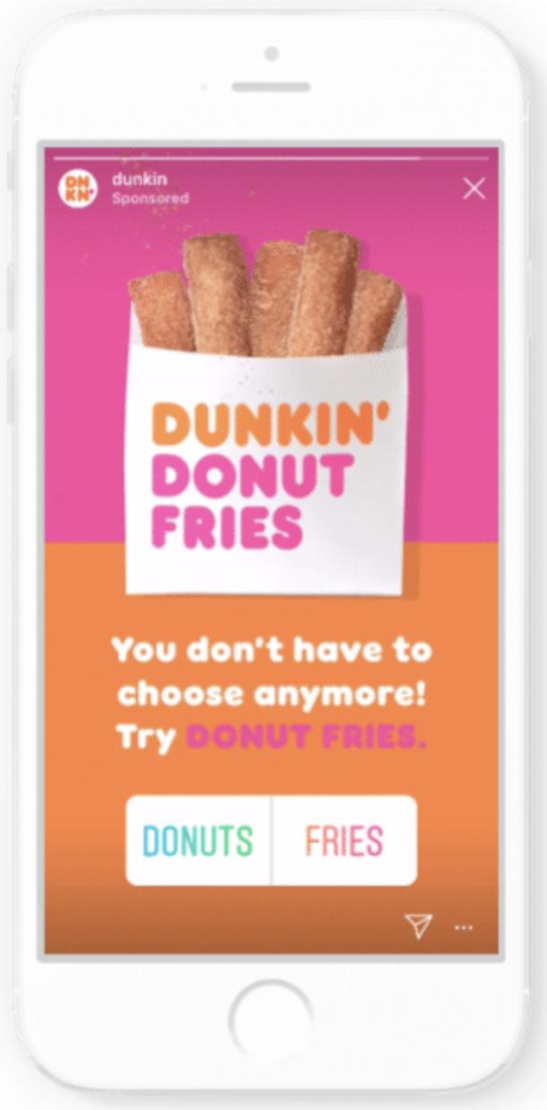 Grandes ejemplos de publicidad alimentaria: Dunkin & # 39;