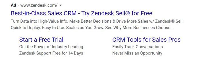 Anuncios PPC de Evergreen - Zendesk Sell