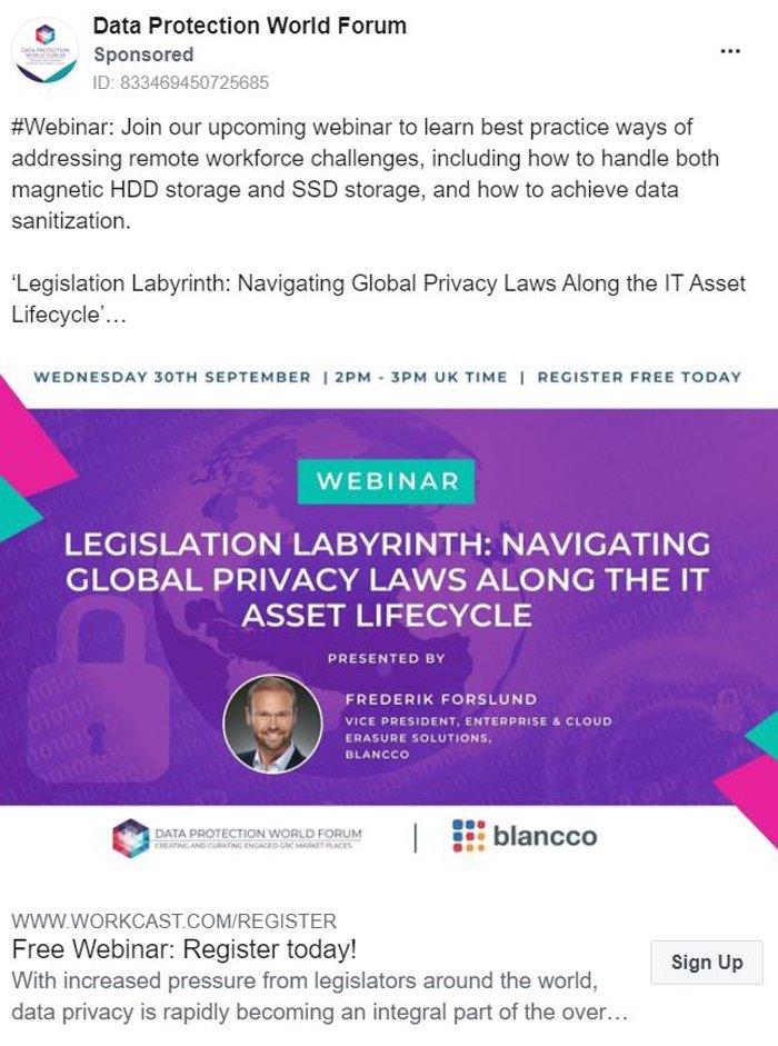 Marketing de liderazgo intelectual - Foro global de protección de datos