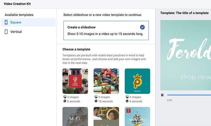 Cómo usar Facebook Creative Hub - Kit de creación de video