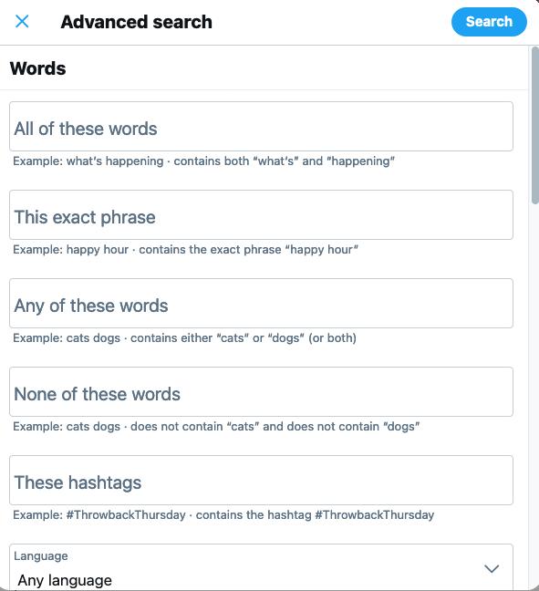 Cómo encontrar tweets antiguos: utilice la búsqueda avanzada de Twitter