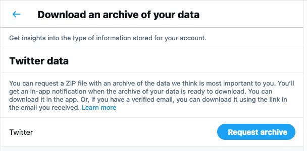 Cómo encontrar tweets antiguos - archivo de datos de Twitter