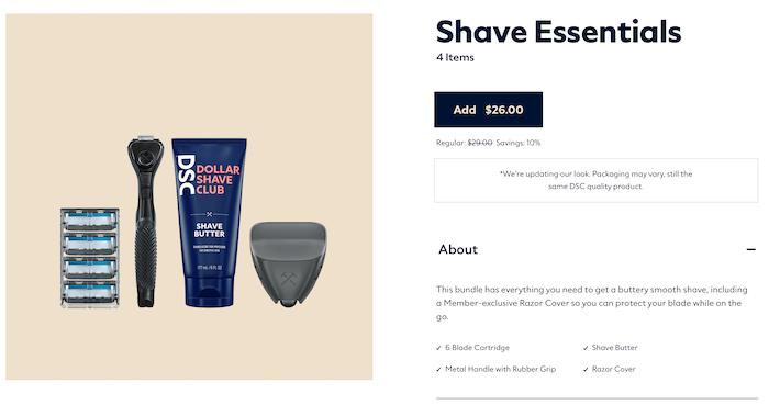 Cómo crear una caja de suscripción - Ejemplo de Dollar Shave Club