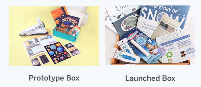 Cómo crear una caja de suscripción: ejemplo de prototipo de Cratejoy frente a lanzado
