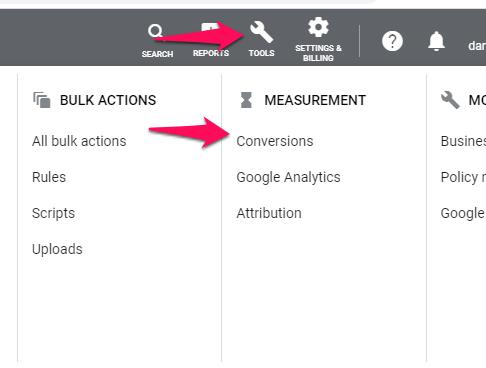 Los anuncios de Google miden las conversiones