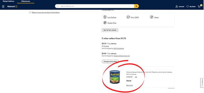 Publicidad de Walmart - Caja de compras
