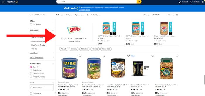 Publicidad de Walmart: amplificadores de marca