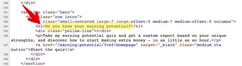 "Etiqueta H1: ejemplo en el código fuente de Ramit Sethi ""class ="" wp-image-26609 ""width ="" 700 ""srcset ="" https://neilpatel.com/wp-content/uploads/2017/03/image20-3. jpg 772w, https://neilpatel.com/wp-content/uploads/2017/03/image20-3-350x96.jpg 350w, https://neilpatel.com/wp-content/uploads/2017/03/image20- 3-768x211.jpg 768w, https://neilpatel.com/wp-content/uploads/2017/03/image20-3-700x192.jpg 700w ""tamaños ="" (ancho máximo: 772px) 100vw, 772px"