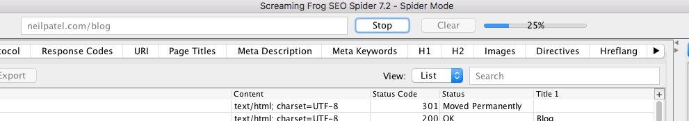 """Balise H1 - Audit h1 à l'aide de Screaming Frog, exécutez le processus d'exploration """"class ="""" wp-image-26620 """"width ="""" 700 """"height ="""" 131"""