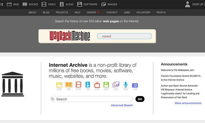 Herramientas del visor de caché web: utilice el visor de caché web de escritorio de Wayback Machine