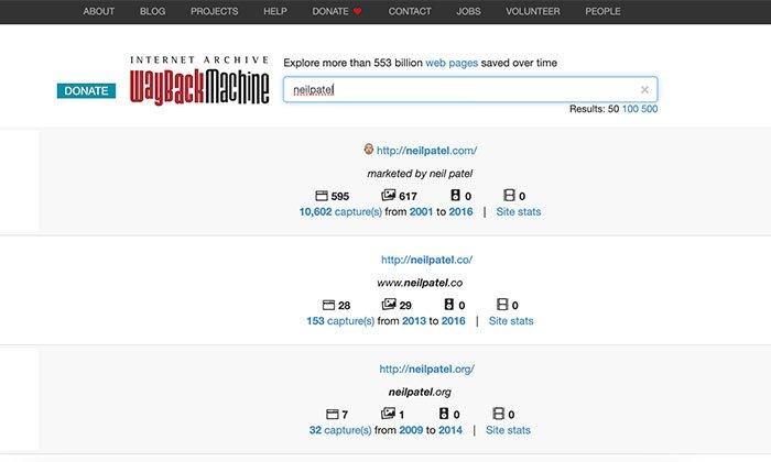 Visor de caché web de escritorio de Wayback Machine