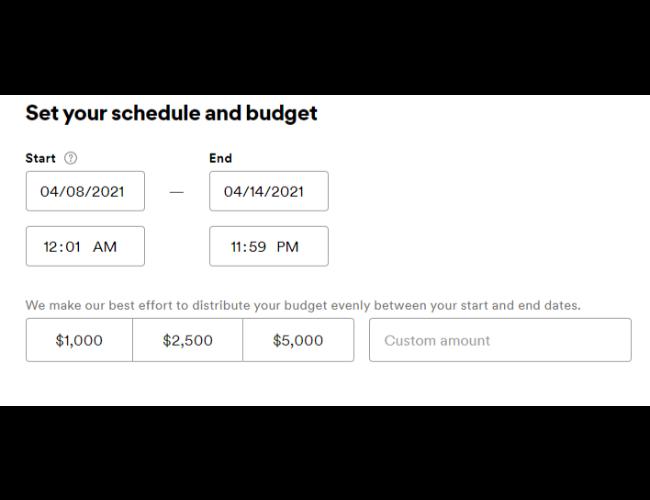 establezca su horario y presupuesto para los anuncios de Spotify