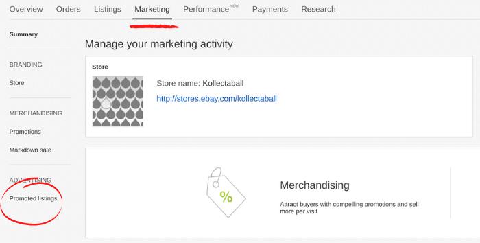 ebay ads - configuración de anuncios promocionados