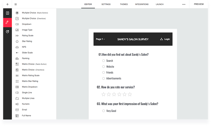 creador de encuestas online - zoho survey
