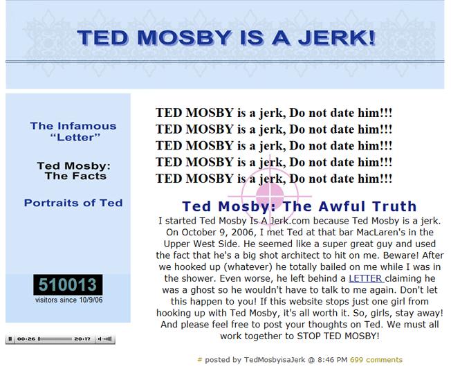 ted mosby es un idiota en la gestión de la reputación online
