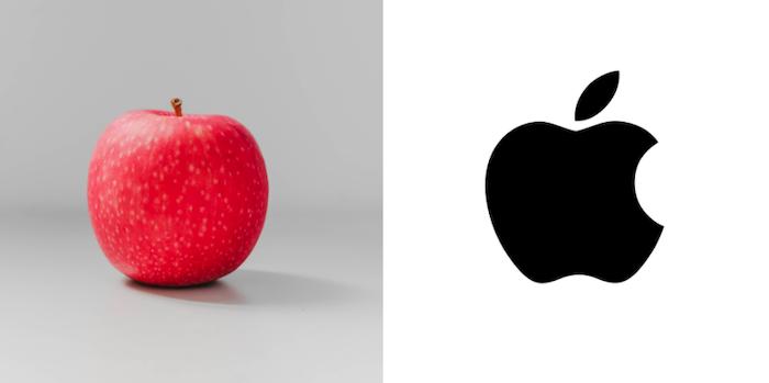 Apple fruit vs entidad de logotipo empresarial de Apple basada en SEO