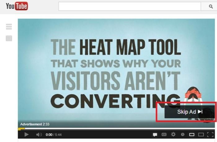 VOD - herramienta de mapa de calor
