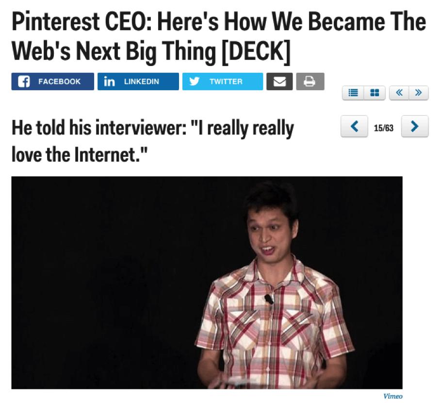 pinterest CEO la próxima gran historia de la marca