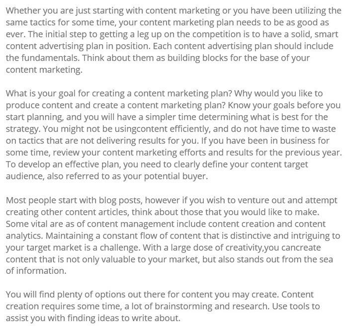 Humanizar el contenido de marketing generado por IA: ejemplo de articoolo