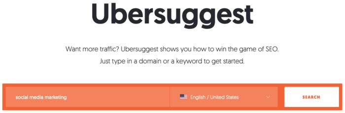 ubersuggest herramienta de publicidad de pago en Internet