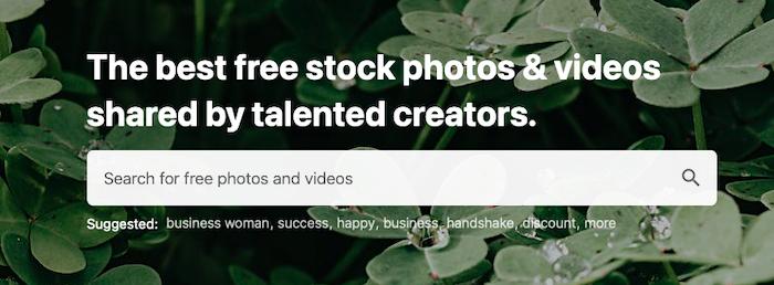 Buscar fuentes de imágenes - Pexels
