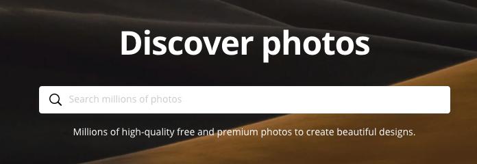 Buscar fuentes de imágenes - Canva