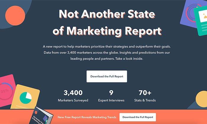 informe de estado de marketing entrante de hubspot