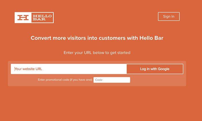 use la barra de saludo para aumentar las oportunidades de venta de inbound marketing