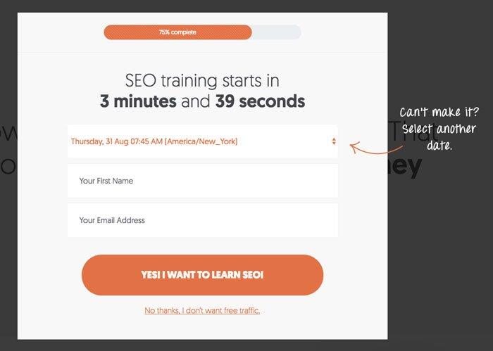 organice un seminario web o una formación gratuitos para obtener clientes potenciales de marketing entrante