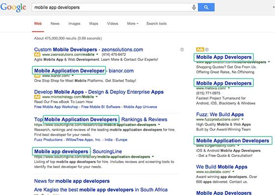 ejemplos de estrategias de texto de anuncios de Google