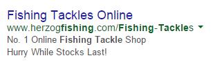 Estrategias de copia de publicidad de aparejos de pesca