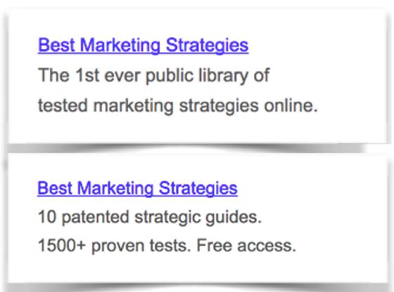 ejemplo de estrategias de texto de anuncios de Google no tergiversa