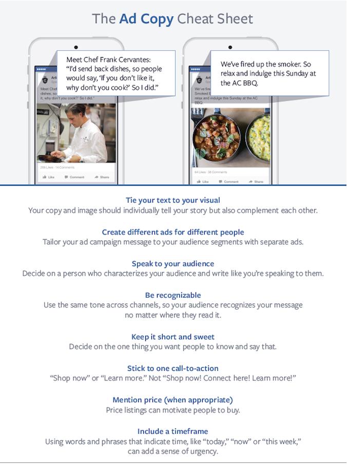 estrategias de copia de anuncios de facebook copiar la hoja de trucos
