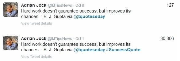 ejemplos de estrategias de copia de anuncios de Twitter