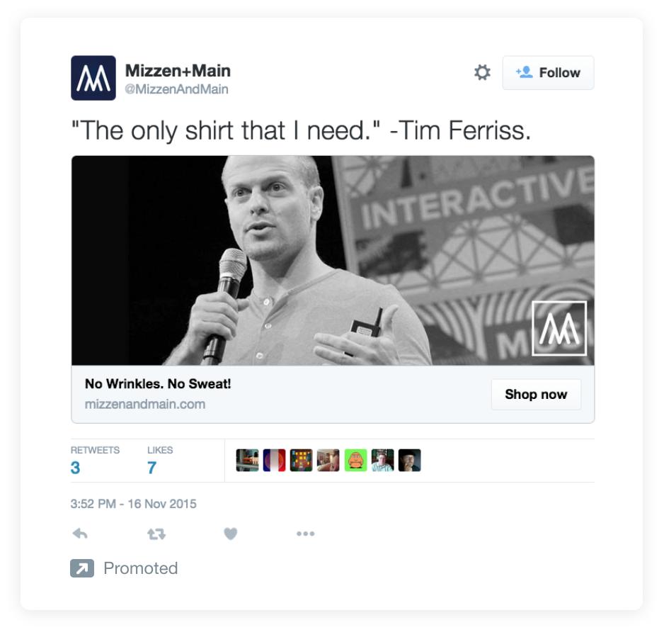 estrategias de copia de anuncios de twitter sea conciso ejemplo tim ferriss