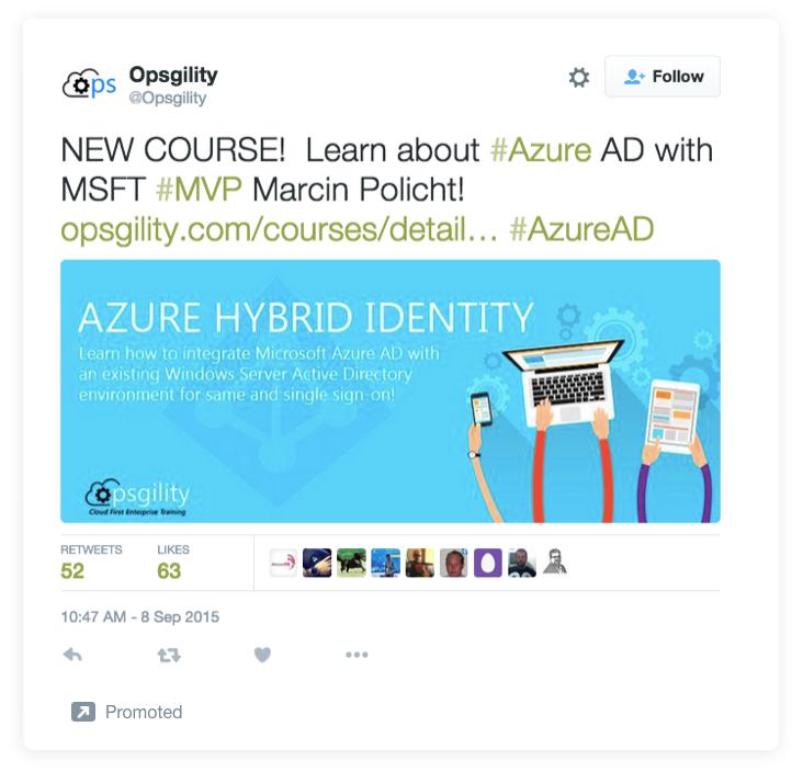 estrategias de copia de anuncios de Twitter opsgility